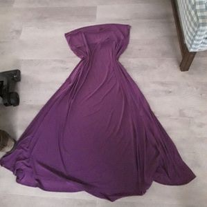 Nwot Lularoe solid purple maxi skirt